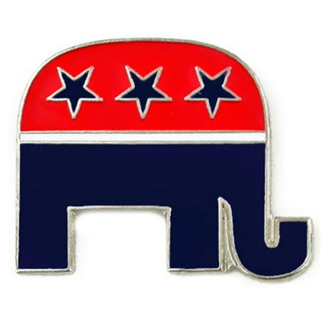 Pinmarts Republican Elephant Patriotic Political Lapel Pin