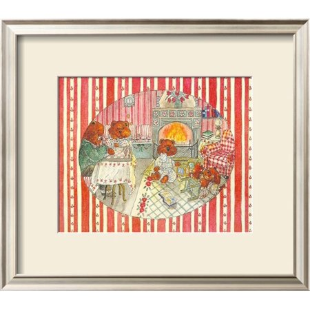 Terry Teddies - Teddy Bears at Home I Framed Art Print Wall Art  By P. Terry - 18x16