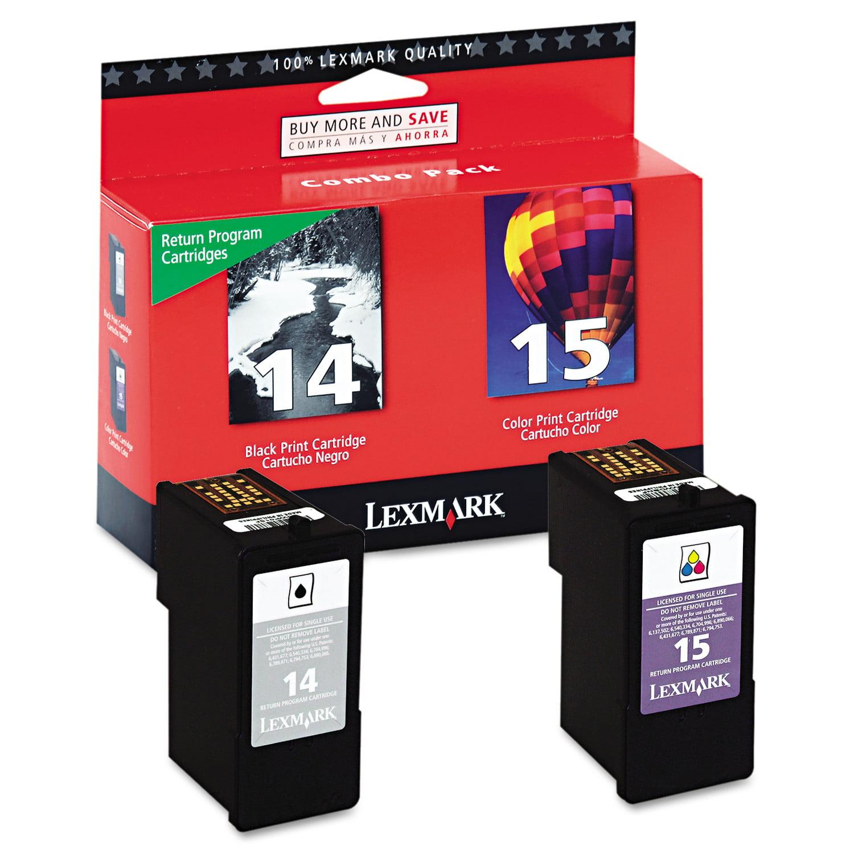 No 14 15 Black Clr Print Cartridge Return Program Walmart Com