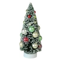 "9"" Frosted Green Sisal Pine Artificial Christmas Table Top Tree"