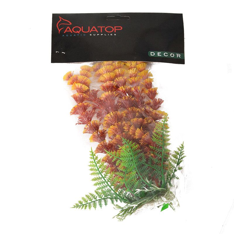 Aquatop Cabomba Aquarium Plant - Fire 6 High w/ Weighted Base - Pack of 2
