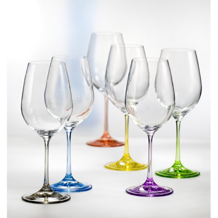 David Shaw Silverware Bohemia 20 oz. Crystal Stemmed Wine Glass (Set of 6) - Acrylic Wine Glasses
