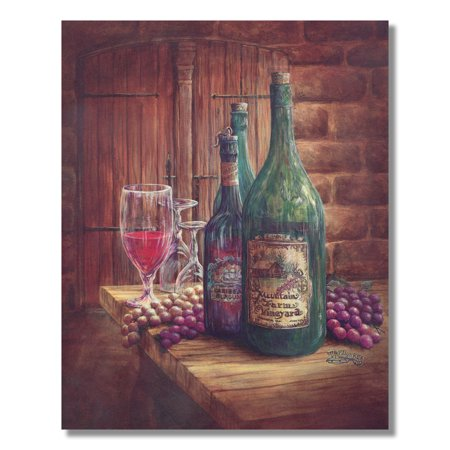 Red Wine and Grapes Kitchen Tuscan Contemporary Wall ...