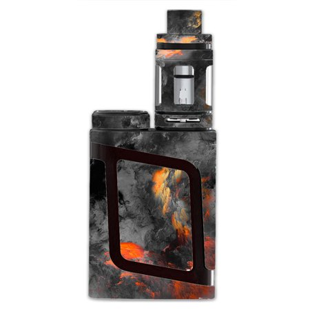 Skin Decal For Smok Al85 Alien Baby Kit Vape Mod / Grey Clouds On Fire Paint](Baby On Cloud)