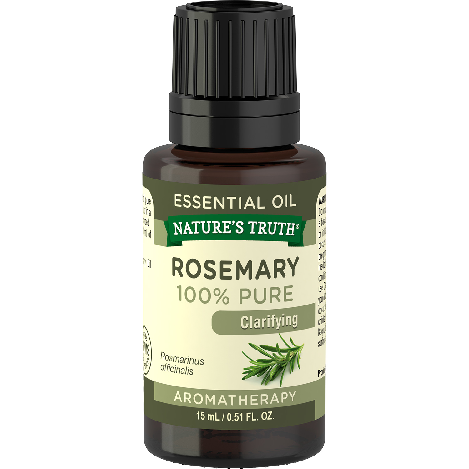 Nature's Truth Aromatherapy Rosemary 100% Pure Clarifying Essential Oil, 0.51 fl oz