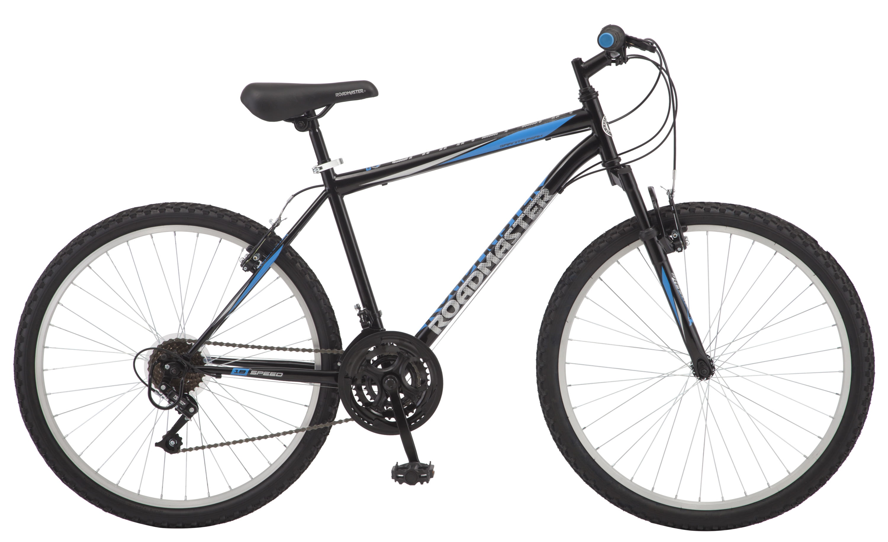 Roadmaster Granite Peak Men S Mountain Bike 26 Wheels Black Blue