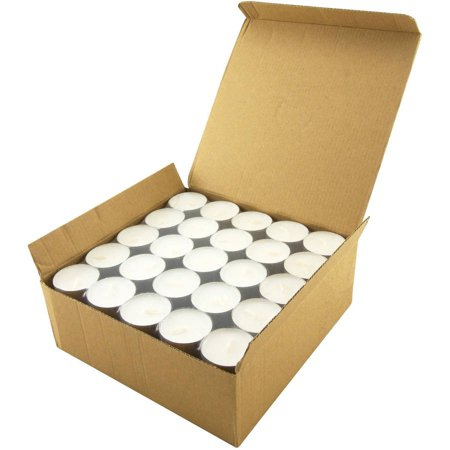 White Unscented Long Burning Tealight Candles, 8 Hours, Pack of 100 - Fall Tealight Candles