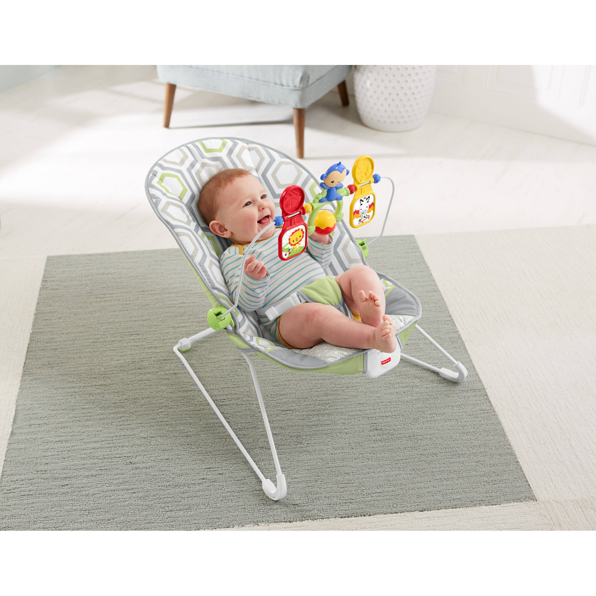 Fisher Price Baby S Bouncer Geo Meadow Walmart Com
