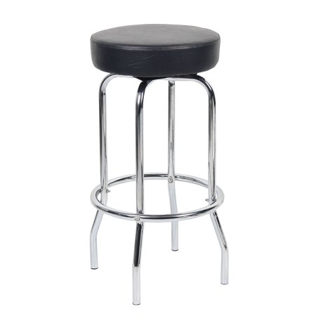 Stool Chrome/Black 29u0022 - Boss Office Products