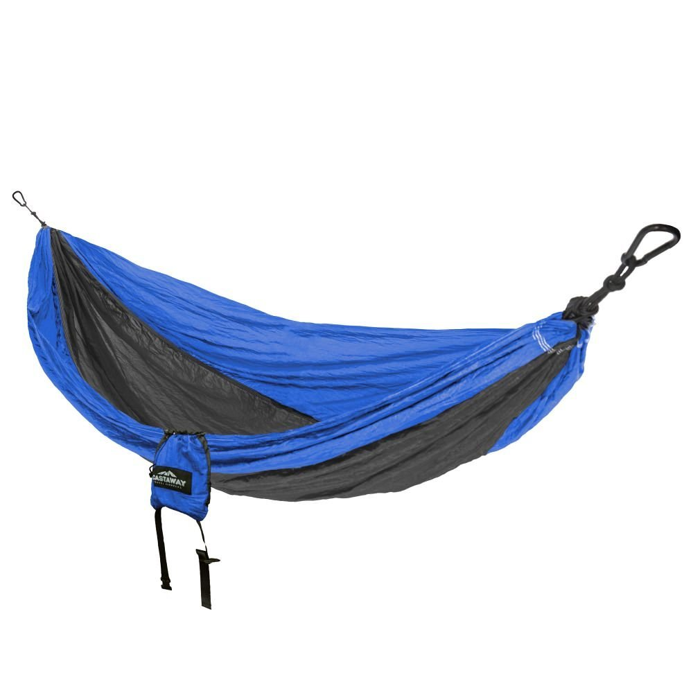 Travel Hammock - Double Blue/Charcoal