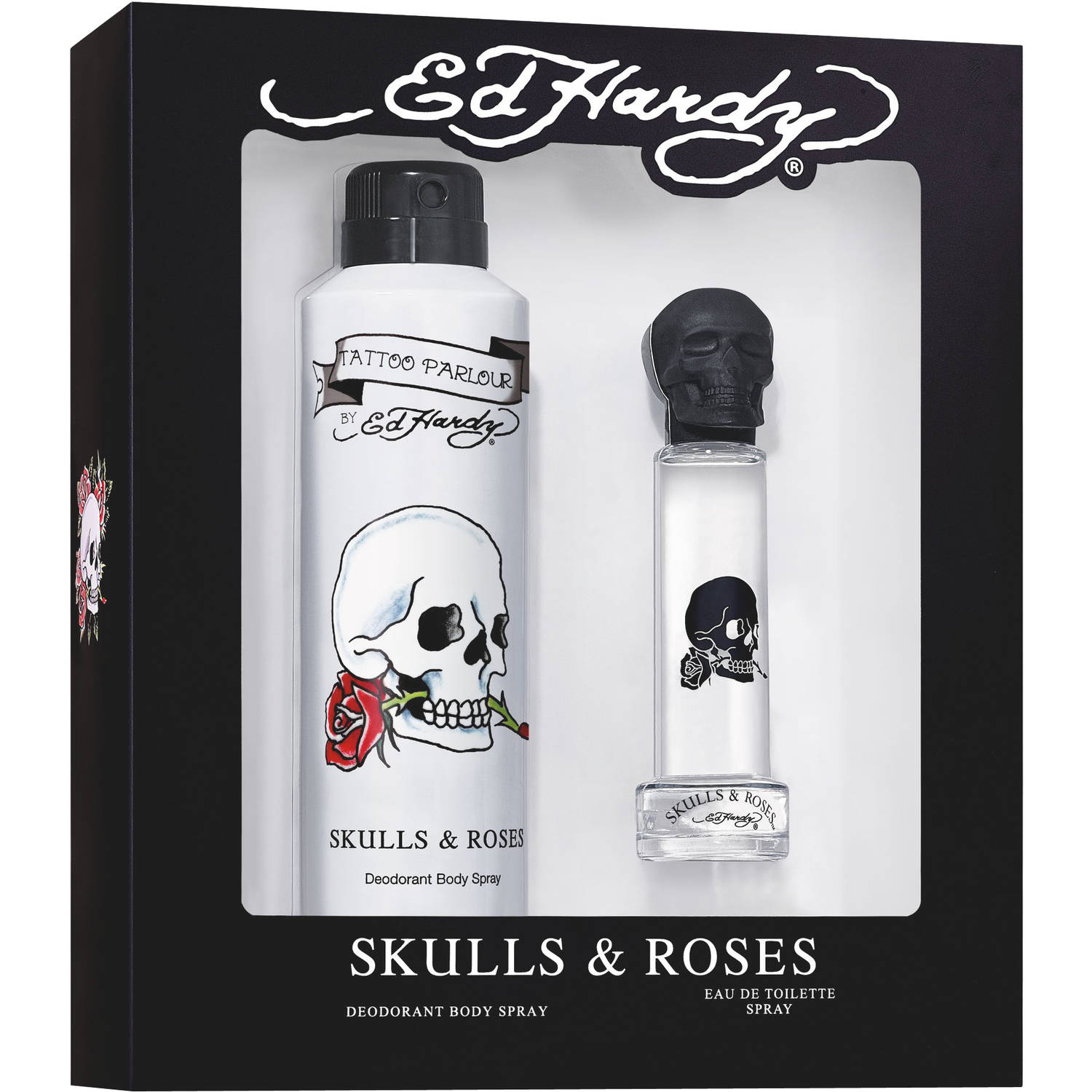 Ed Hardy Skulls & Roses for Men Fragrance Gift Set, 2 pc