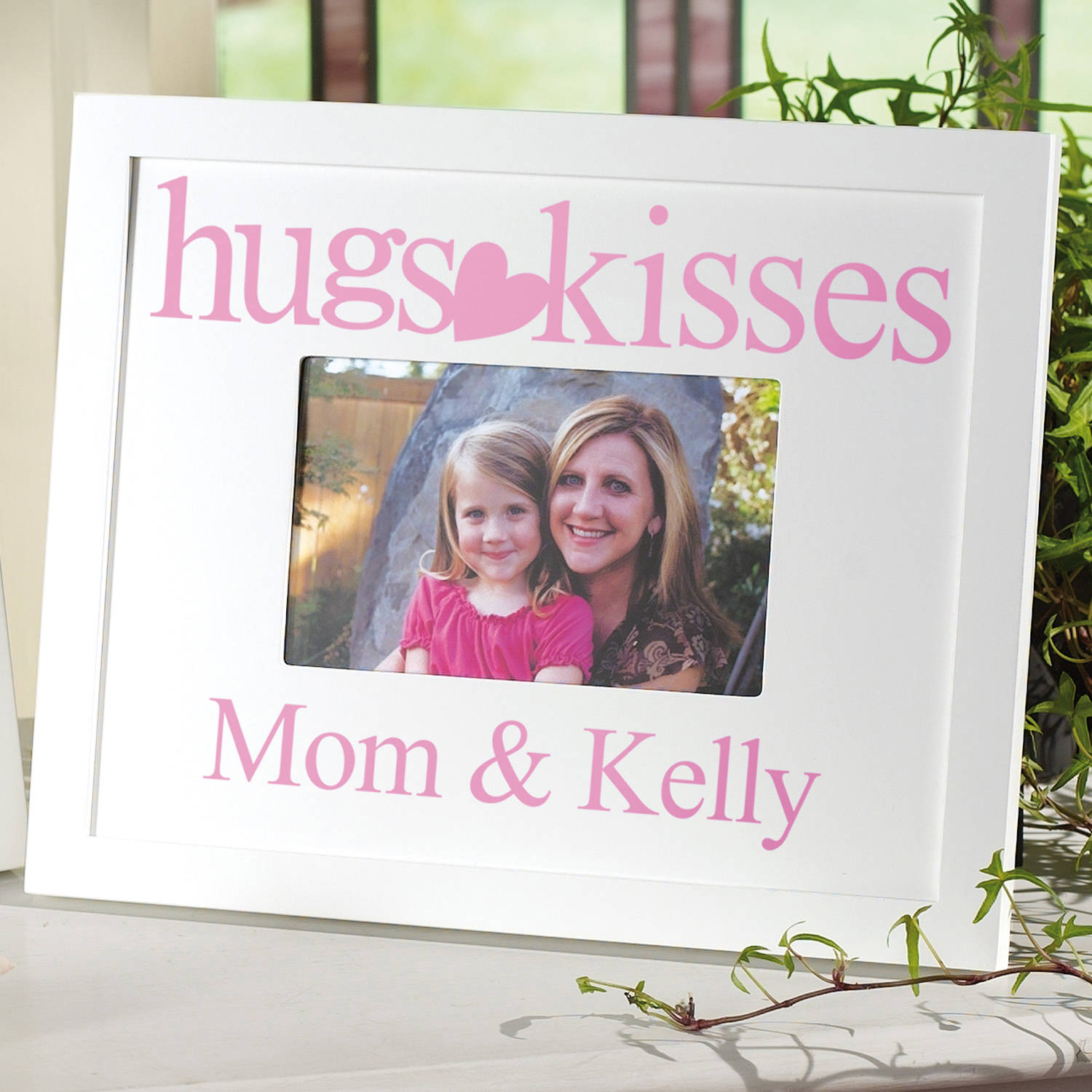 "Personalized ""Hugs and Kisses"" Frame"