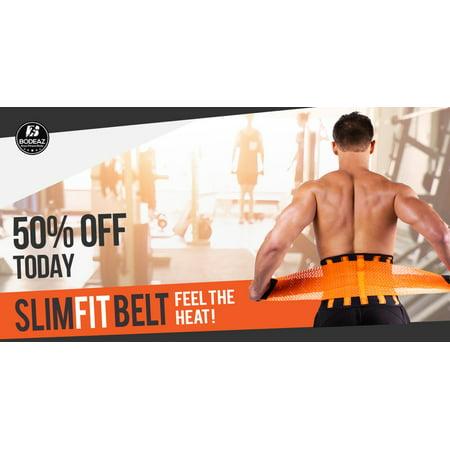 d093995bd4 Men SlimFit Waist Trainer Belt Body Shaper Belly Wrap - Black -Trimmer  Slimmer Compression Band ...