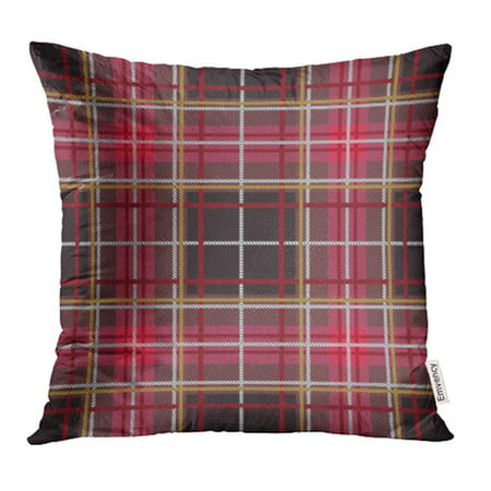 CMFUN Green Abstract Tartan Pattern Plaid Christmas Scottish Flat Style Design Red Argyle Pillow Case Pillow Cover 20x20 inch Throw Pillow Covers