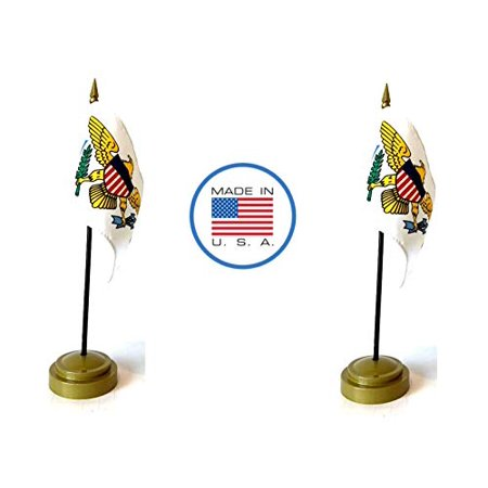 Made in The USA Flag Set. 2 US Virgin Islands Rayon 4