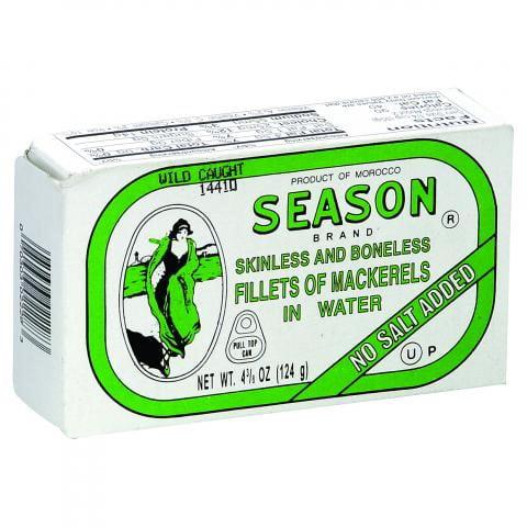 Season Brand Mackerels in Water, 4.375 OZ by Season Product