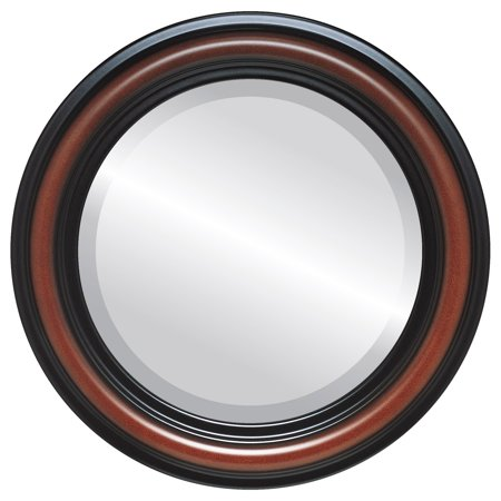 The Oval and Round Mirror Store Philadelphia Framed Round Mirror in Rosewood - (Oval Rosewood Mix)