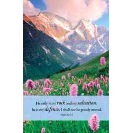 Bulletin-He Only Is My Rock And My Salvation (Psalm 62:1-2 KJV) (Pack of  100)