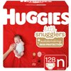 Huggies Little Snugglers Baby Diapers, Size Newborn, 128 Ct, Giant Pack