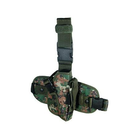 Utg Special Ops Universal Leg Holster - Right Hand-gen Ii Woodland Digital