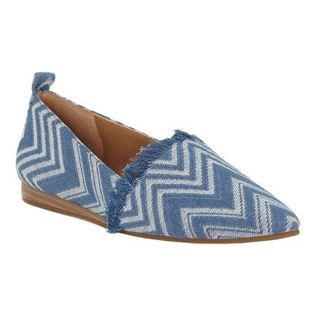 Lucky Brand Women's Beechmer Moonlight Blue Ankle-High Fabric Slip-On Shoes - 7.5M