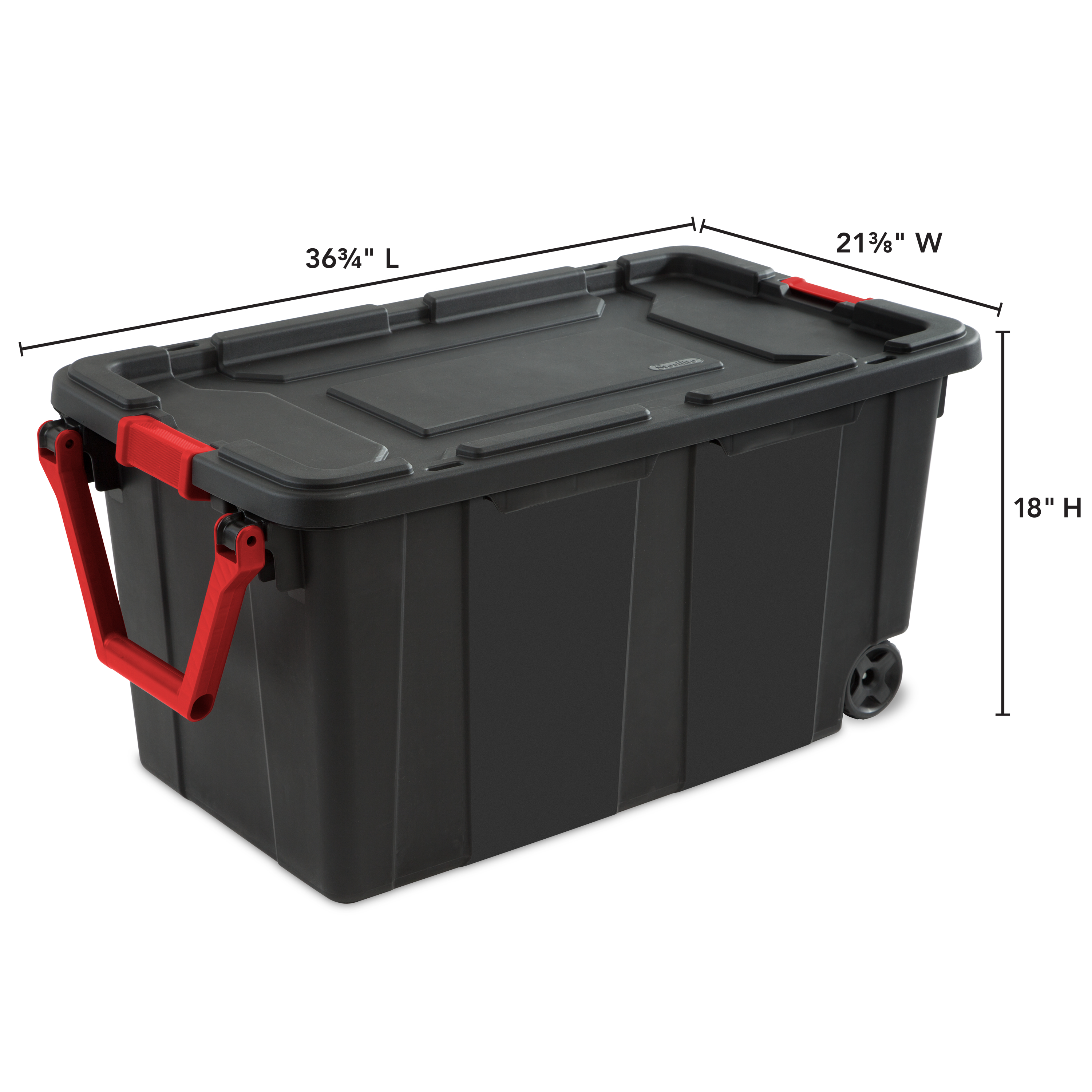 Sterilite 40 Gal 151 L Wheeled Industrial Tote Black Available