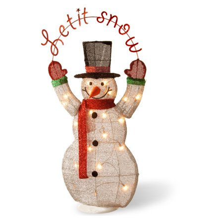 Pre Lit 36   Tinsel Snowman