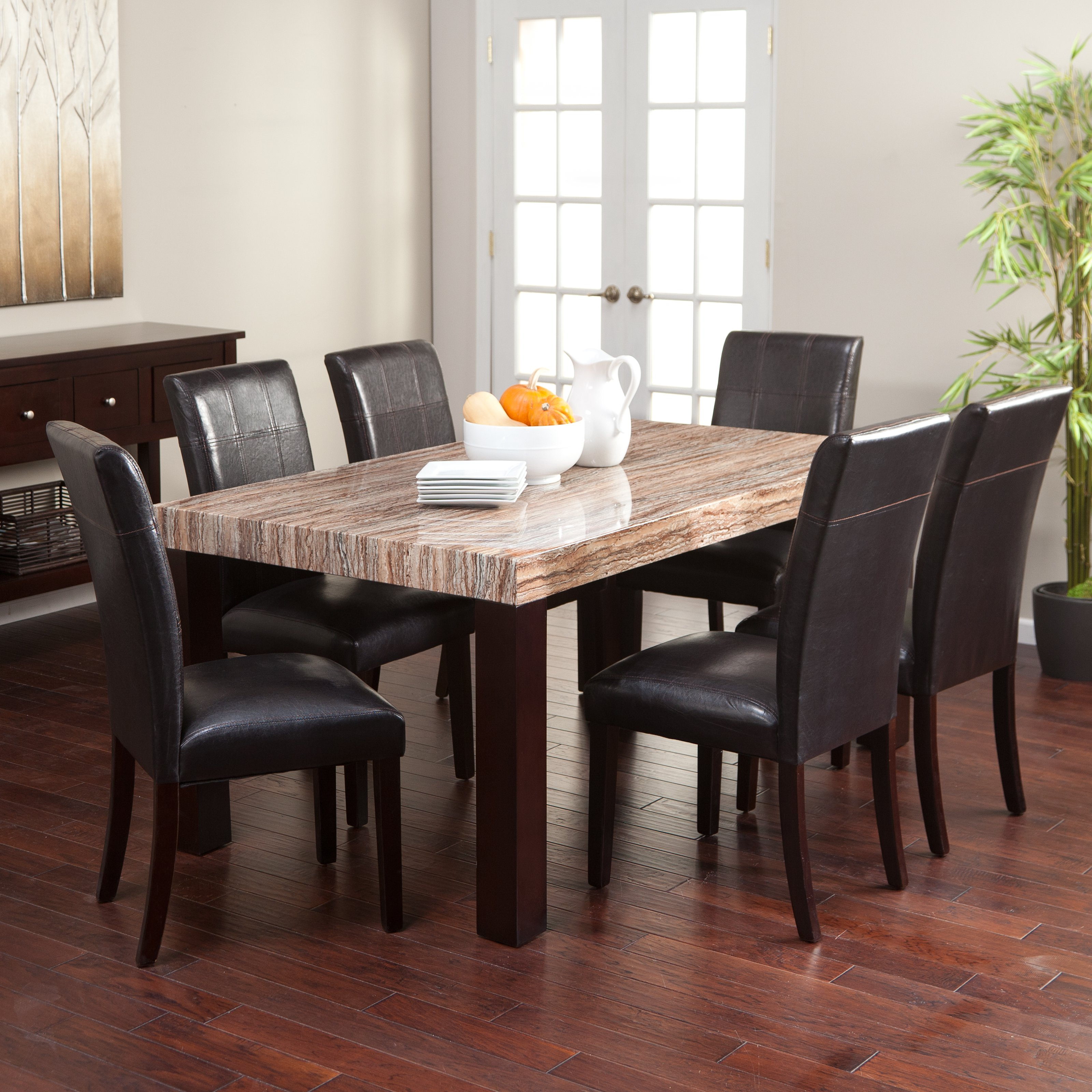 Carmine 7 Piece Dining Table Set Walmartcom