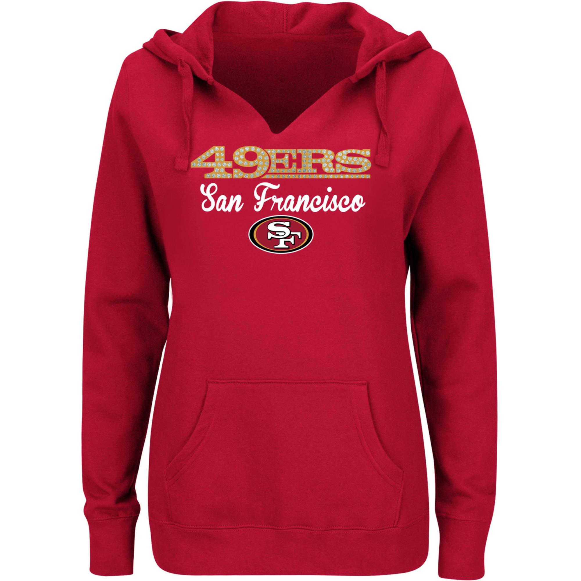 NFL San Francisco 49ERS Ladies Fleece Hoodie