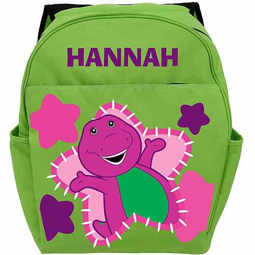Barney Glamour Green Backpack