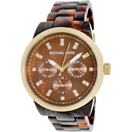 Michael Kors Women's Ritz MK5038 Brown Plastic Quartz Dress Watch