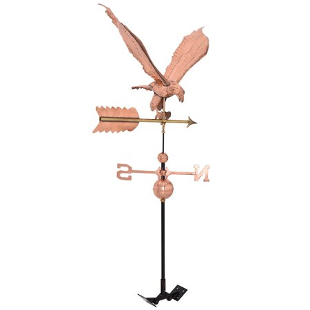 Polished Outdoor Roof Mounted Copper Eagle Weathervane (Copper Roof Carousel)