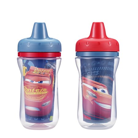 Christmas Sippy Cups (The First Years Disney Pixar Insulated Hard Spout Sippy Cup - Cars)