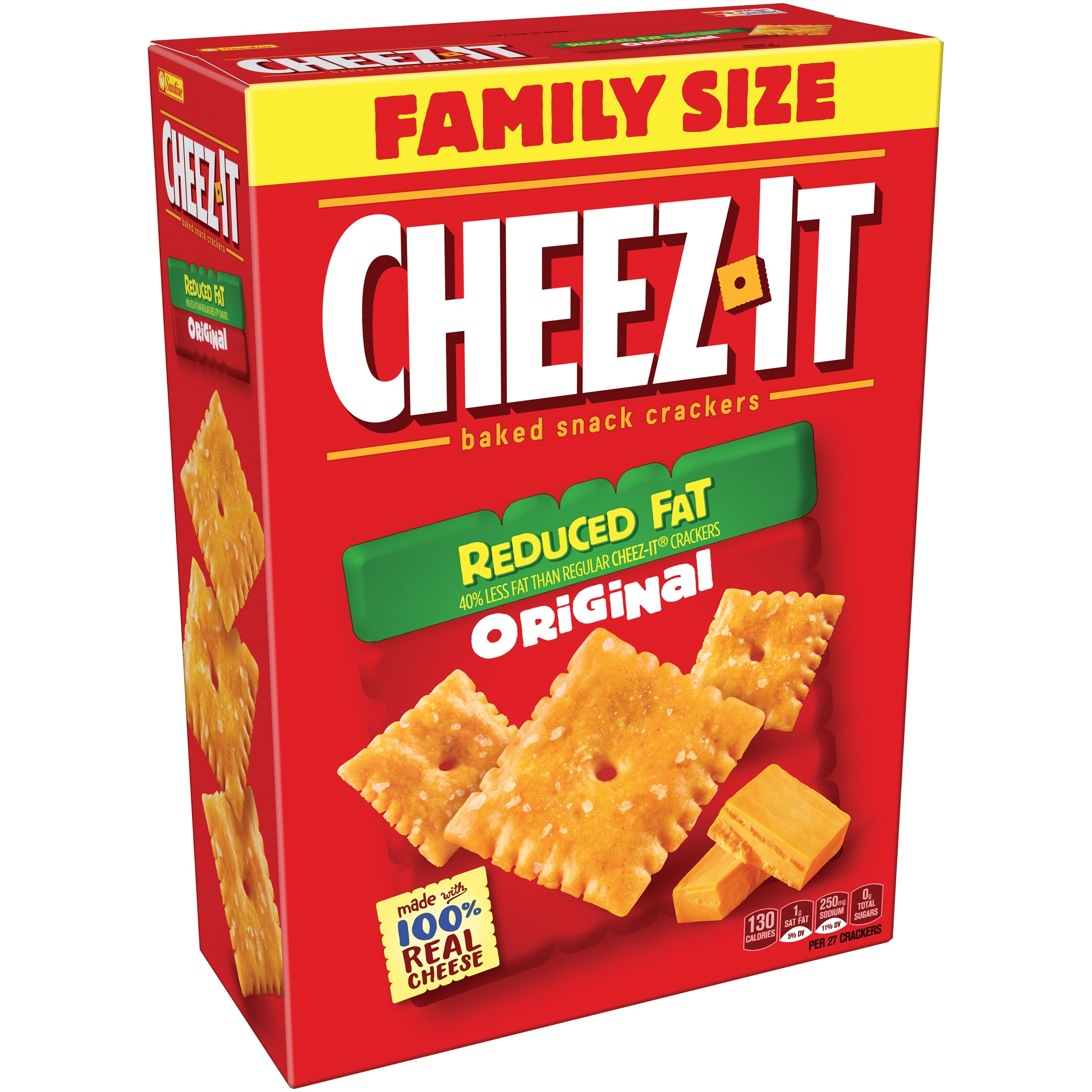 Cheez-It Reduced Fat Original Baked Snack Crackers 19 oz. Box by Sunshine Biscuits, LLC