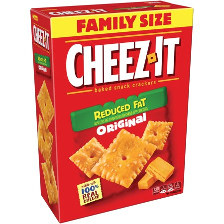 Cheez It  Reduced Fat Original Baked Snack Crackers 19 Oz  Box