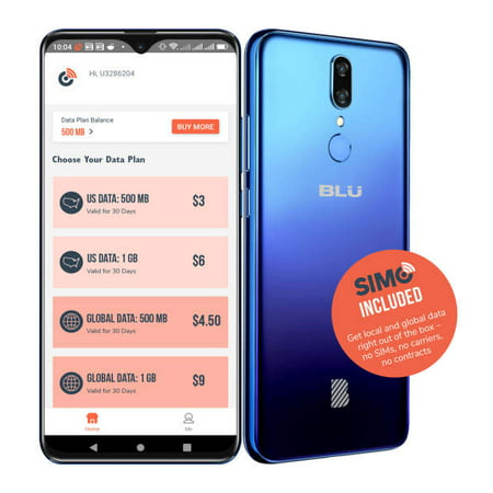 BLU G9 G0130WW 64GB Unlocked GSM Phone w/ Dual 13MP and 2MP Camera – Blue - includes 1 FREE GB DATA with SIMO