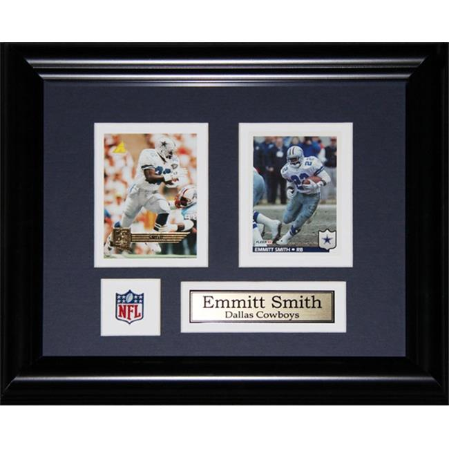 Midway Memorabilia Emmitt Smith Dallas Cowboys 2 Card Frame