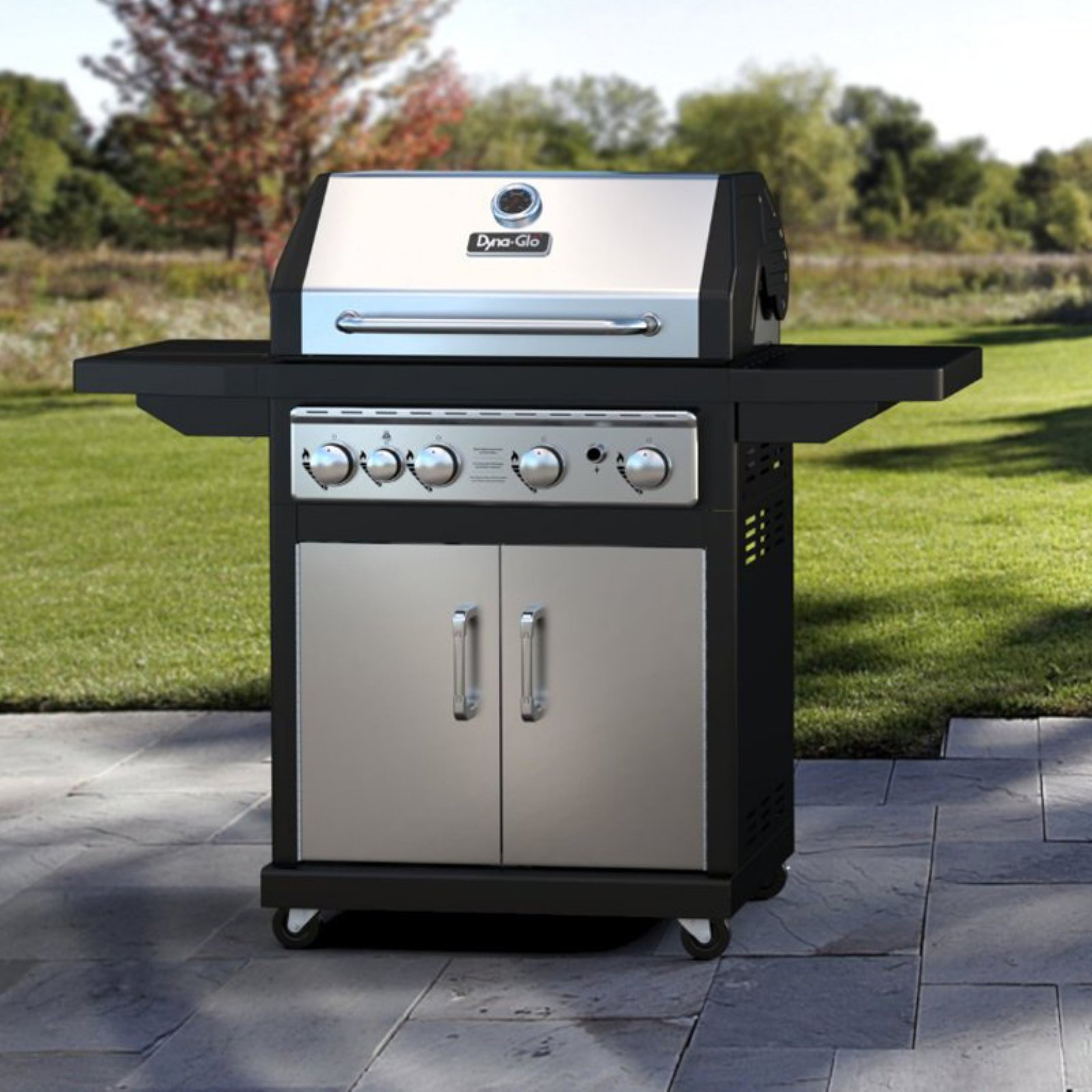 Dyna-Glo DGA480SSP-D 4-Burner Stainless LP Gas Grill by GHP Group, Inc.