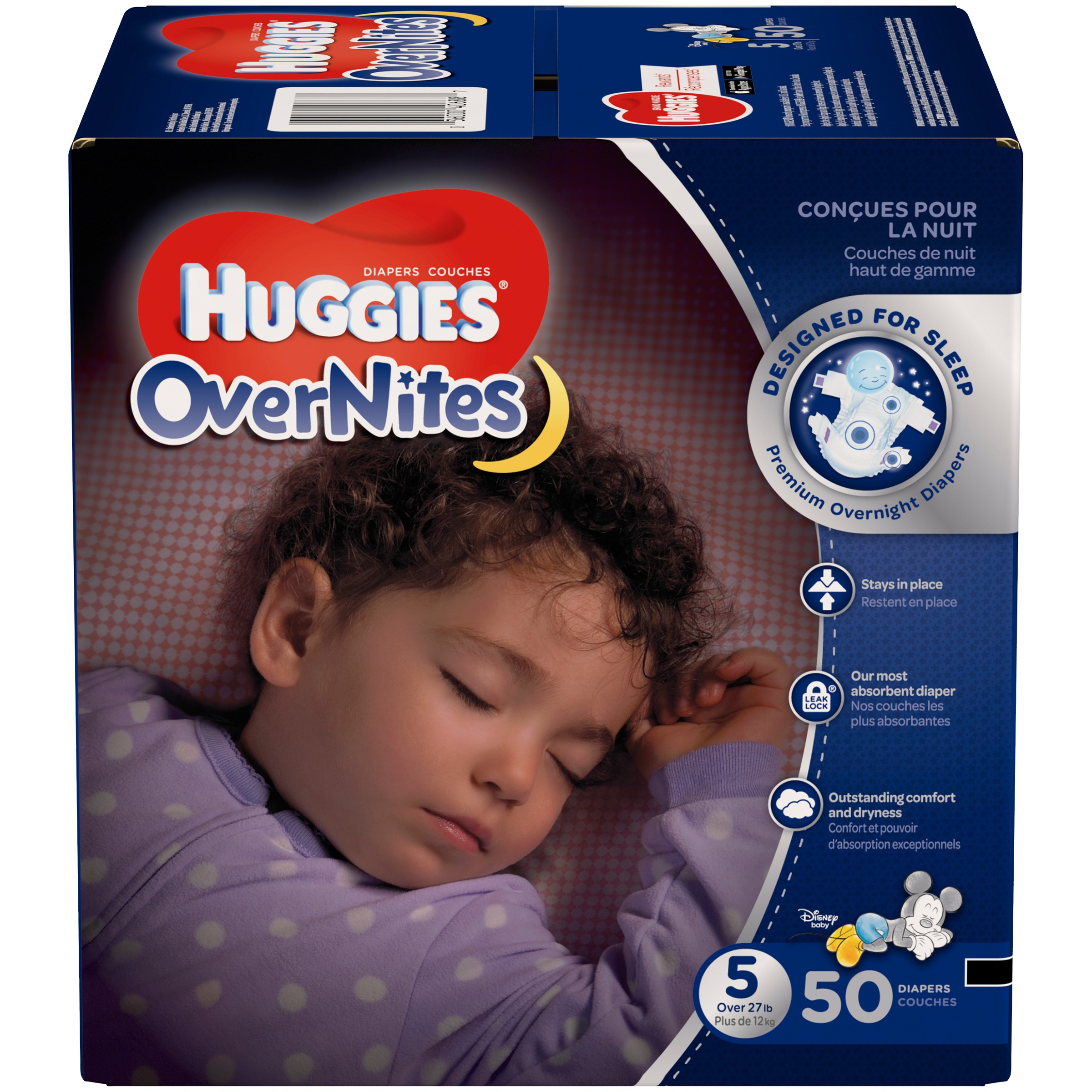 Huggies OverNites Diapers, Size 5 (Choose Diaper Count)