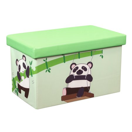 Bamboo Box (Otto & Ben 20 Inch Toy Storage Chest Organizer, Panda and Bamboo)