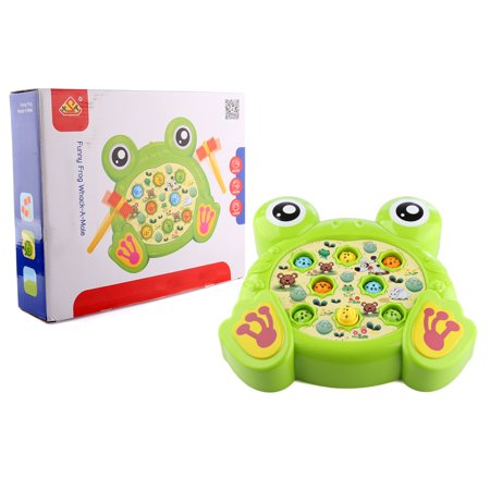 Kids Cuet Cartoon Pattern Electronic Whac-a-Mole Game Percussion Toy with Music Effect and Hammers(Frog) - (Joecartoon Com Frog In A Blender Game)