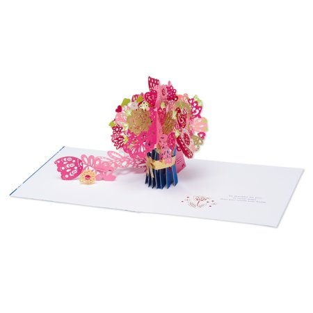 Mother's Day Pop Up Card, Flower Vase, American - Halloween Pop Up Cards To Make