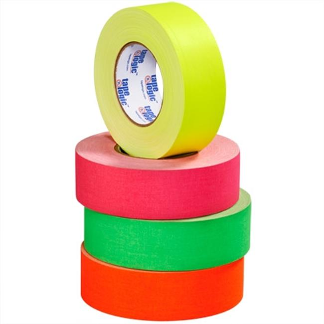 Tape Logic T9874FP3PK 2 in. x 50 Yards Fluorescent Pink Tape Logic 11 mil Gaffers Tape, Pack of 3 - 3 Per Case - image 1 of 1
