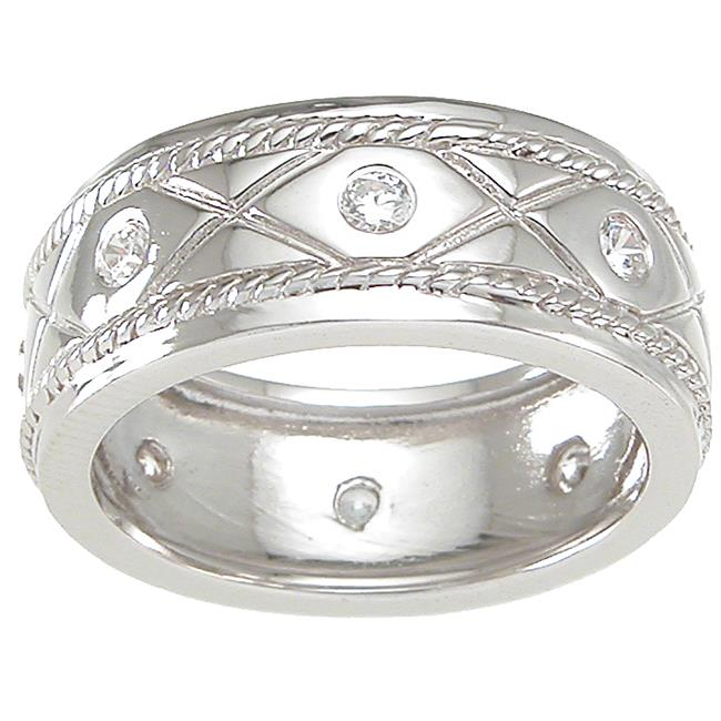 Plutus kkrm6735d 925 Sterling Silver Mens Wedding Band Size 9