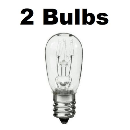 10W 130V Dryer Light Bulb for Kenmore 3406124 22002263 2 Pack (Kenmore Dryer Light Bulb)