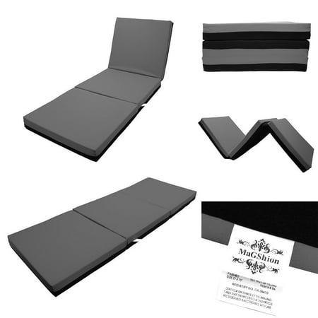 Magshion 4 Inch Memory Foam Tri Fold Mattresses Floor Bed