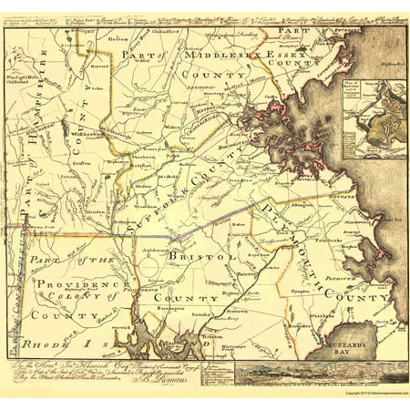 Old Revolutionary War Map - Seat of the Civil War in America 1775 ...