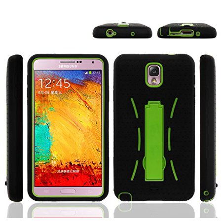 Robot Shockproof Hybrid Kickstand Protective Case Cover for Samsung Galaxy Note 3 III - Green, Designed by RawX By RawX from USA