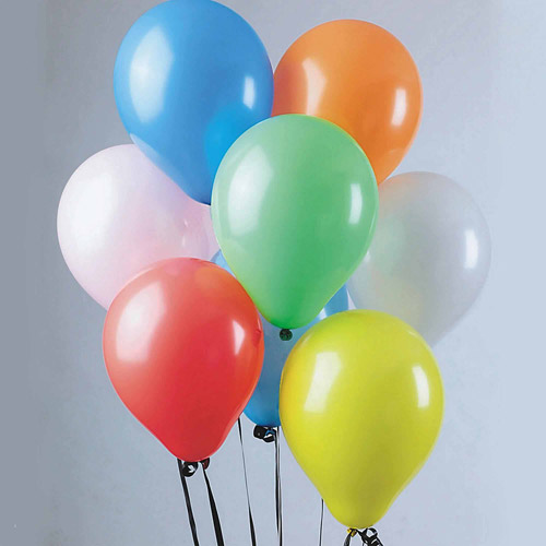 "9"" Standard Color Balloons, Pack of 100"