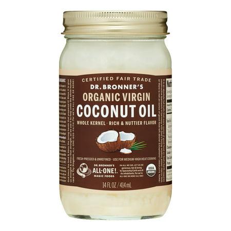 Dr. Bronner's Organic Virgin Coconut Oil, Fresh-Pressed & Unrefined, 14 Oz, 1